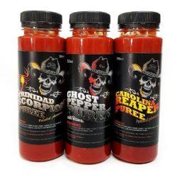 Carolina Reaper, Trinidad Moruga Scorpion, Ghost Pepper Chilli Mash
