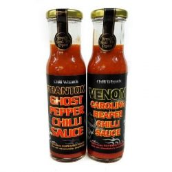 Carolina Reaper + Ghost Pepper szósz 38% chili tartalommal