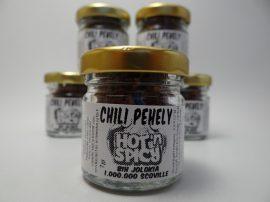 Bih Jolokia szárított chili pehely 7 gramm üvegcsében