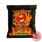 Ghost Pepper Pig Pork Scratchings snack. Extreme Heat.