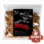 Carolina Reaper Pig Pork Scratchings snack. Extreme Heat.
